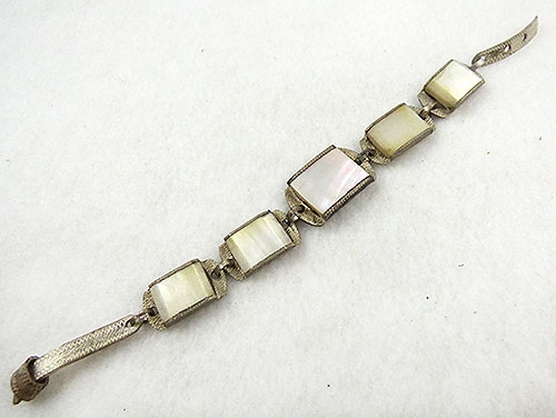 Natural Shell - Mother-of-Pearl Link Buckle Bracelet