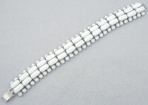 Newly Added White Milk Glass Bracelet
