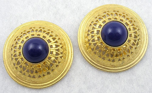 Ben-Amun - Ben-Amun Gold Pierced & Domed Earrings