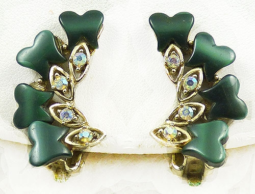 Newly Added Forest Green Thermoplastic Earrings