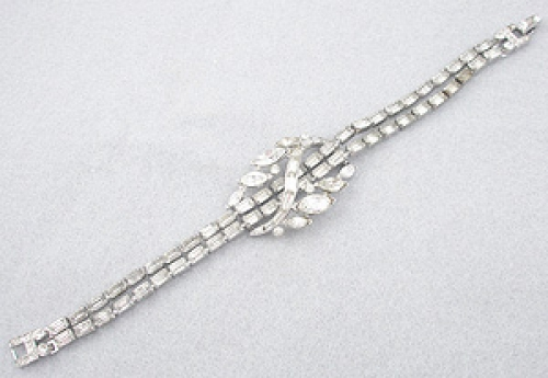 Newly Added Trifari Rhinestone Baguette Bracelet