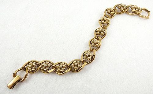 Goldette - Goldette Faux Pearl Floret Bracelet