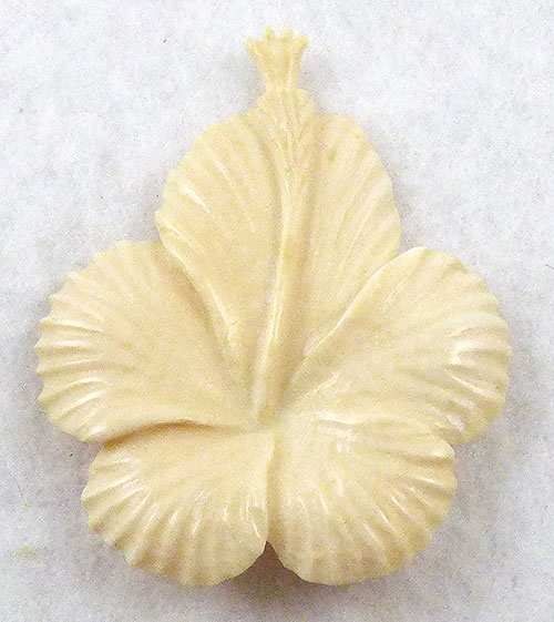 Brooches - Ming's Carved Hibiscus Brooch