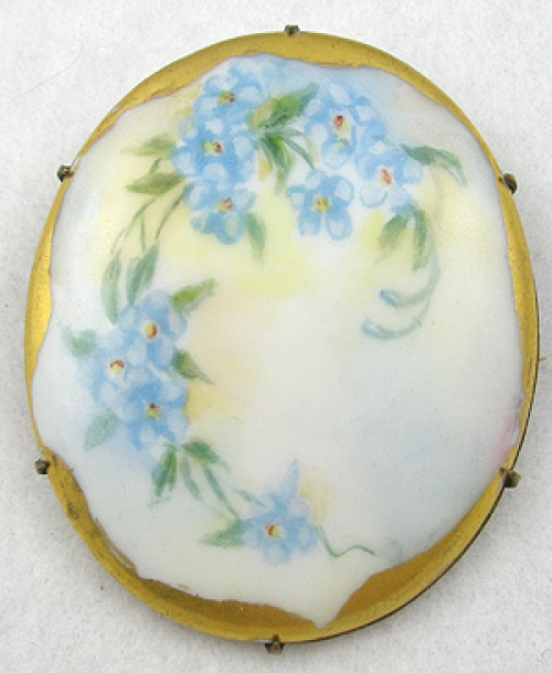 Brooches - Hand Painted Porcelain Brooch