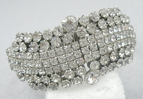 Newly Added Rhinestone Hinged Clamper Bracelet