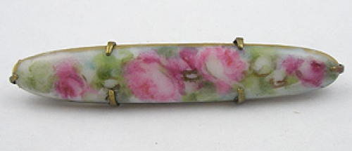 Newly Added Hand Painted Porcelain Bar Pin