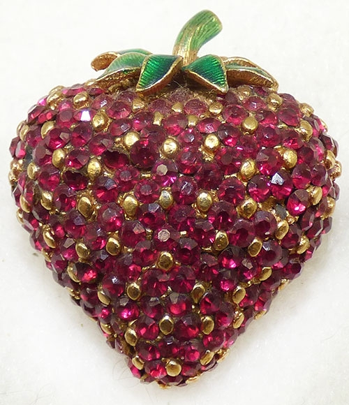 Newly Added Ciner Strawberry Brooch