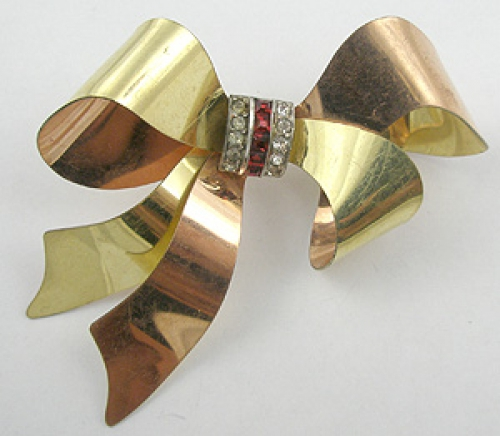 Newly Added Taylord Gold Filled Bow Brooch