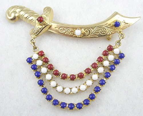 Newly Added Patriotic Sword Brooch