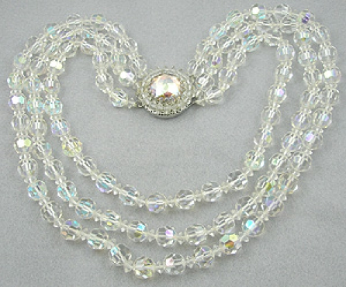 Necklaces - Vendome Crystal Aurora Bead Necklace