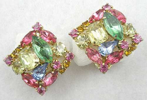Earrings - Pastel Rhinestone Earrings