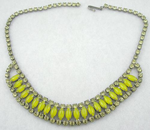 Necklaces - Yellow Glass Moonstone Necklace
