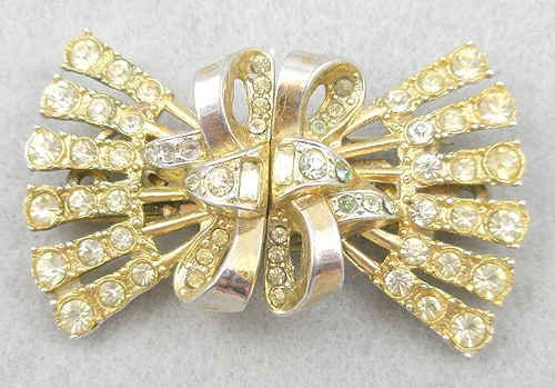 Newly Added Coro Rhinestone Bow Duette