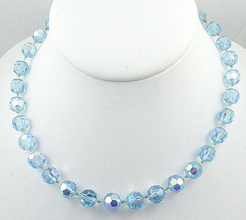 Carnegie, Hattie - Hattie Carnegie Light Blue Crystal Necklace