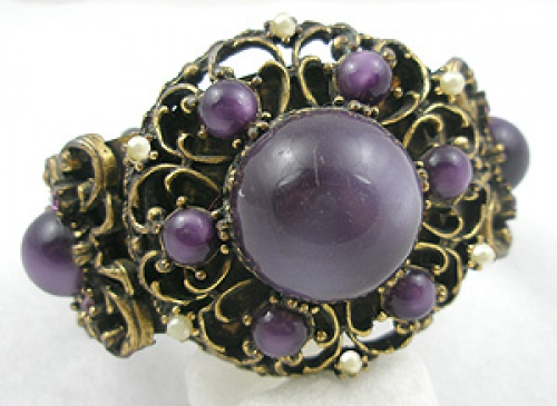 End of Year Sale! 30-50% OFF - Selro Purple Moonglow Hinged Bracelet
