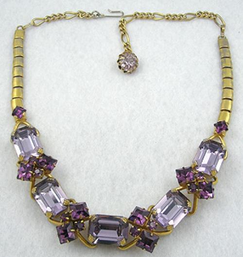 Germany - Dior Amethyst Rhinestone Necklace