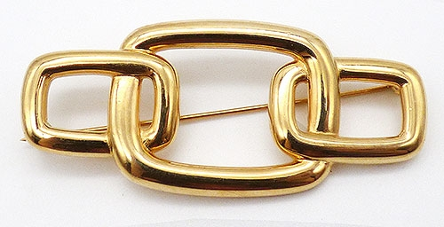 Monet - Monet Gold Tone Buckle Brooch