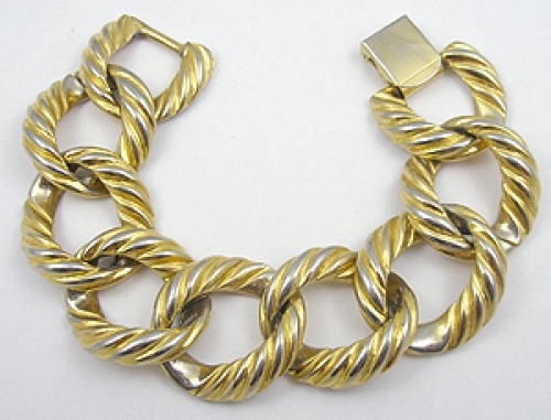 Newly Added Thick Gold Tone Chain Bracelet