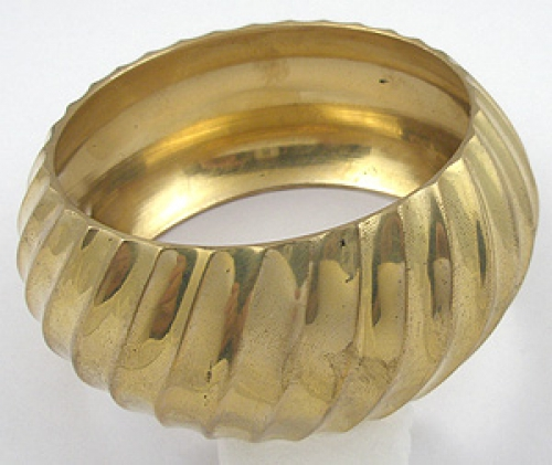 Newly Added Chunky Wide Gold Tone Bangle