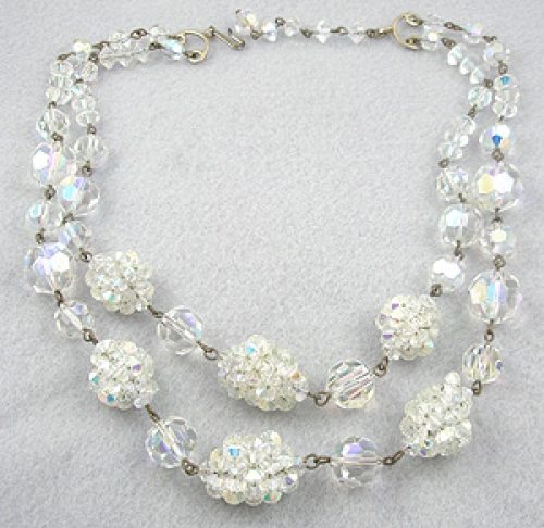 Necklaces - Crystal Cluster Bead Necklace