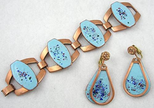 Rebajes - Rebajes Enameled Copper Bracelet Set