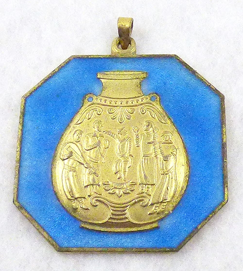 China - Chinese Blue Enamel Pendant