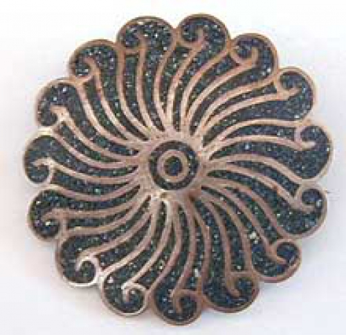 Brooches - A. Garcia Taxco Sunburst Brooch
