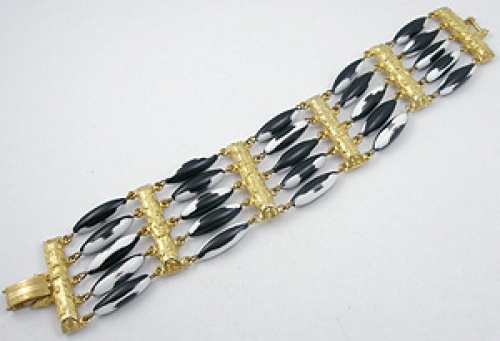 Newly Added Black & White Beads Bracelet