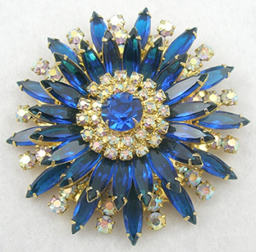 DeLizza & Elster/Juliana - DeLizza & Elster Sunburst Brooch