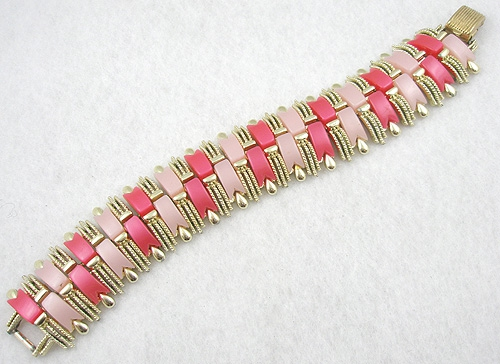 Newly Added Coro Pink Plastic Bracelet
