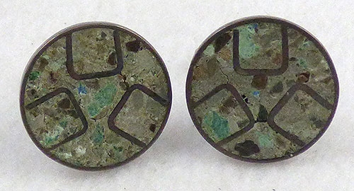 Mexico - Mexican Sterling Sandstone Inlay Cufflinks