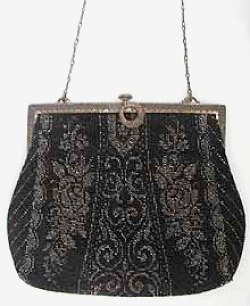 Purses - German Black Micro Bead Purse