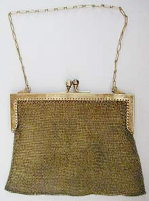 Purses - German Silver Metal Mesh Purse