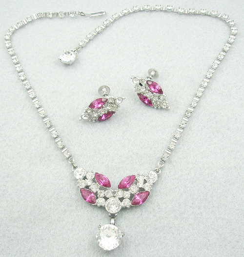 Sets & Parures - Bogoff Rhinestone Necklace Set