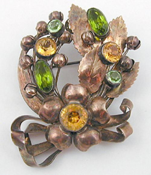 Brooches - Hobe' Sterling Wreath Brooch