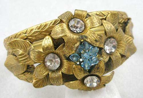 Newly Added Brass Flowers Hinged Bracelet