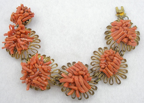 Autumn Fall Colors Jewelry - Spezzati Coral Bracelet
