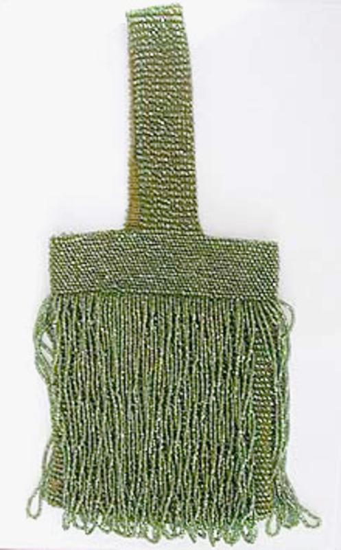 Purses - Green Beaded Flapper Purse