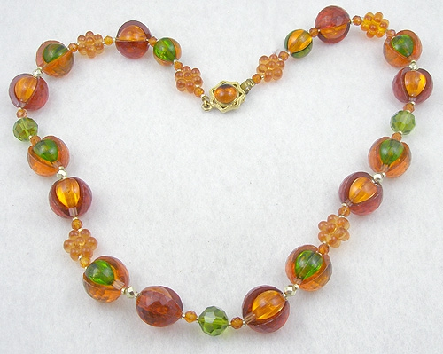 Necklaces - West Germany Plastic Bead Necklace