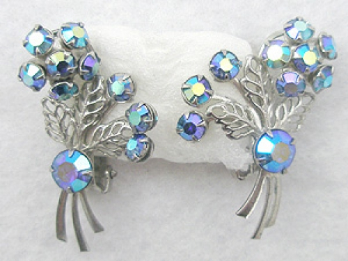 Earrings - Blue Aurora Flower Earrings