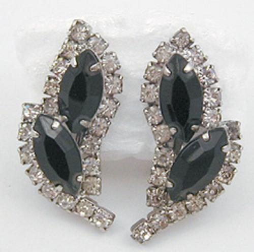 Cathé - Cathé Black Rhinestone Earrings