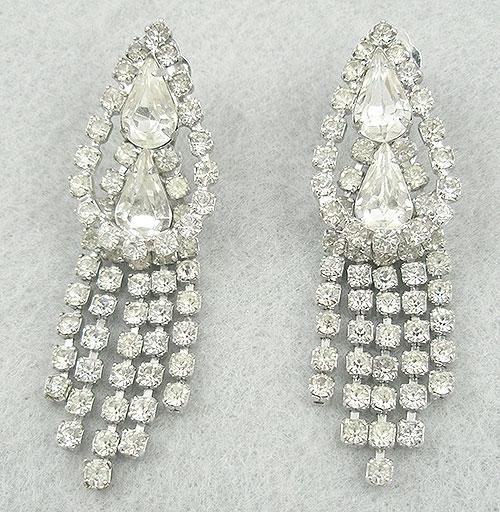 Carnegie, Hattie - Hattie Carnegie Rhinestone Earrings