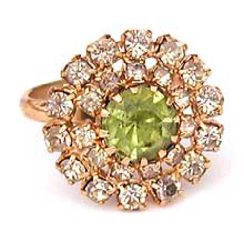 Rings - Lime Green Rhinestone Ring