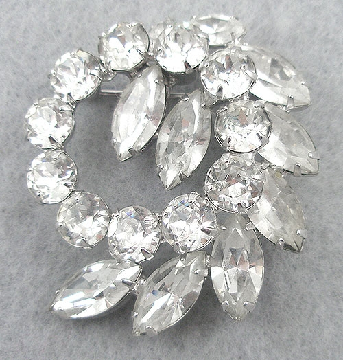 Brooches - Vintage Weiss Rhinestone Brooch