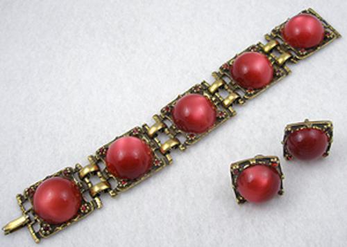 Sets & Parures - Red Moonglow Bracelet Set