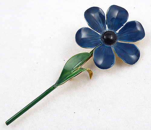 Brooches - Sandor Blue Flower Brooch