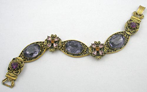 Bracelets - Florenza Purple Rhinestone Bracelet