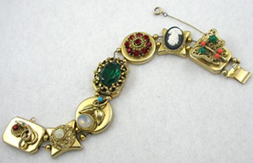 Bracelets - Goldette Victorian Revival Slide Bracelet