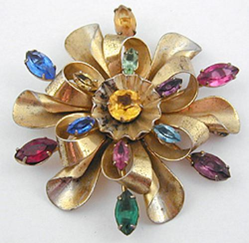 End of Year Sale! 30-50% OFF - Sterling Vermeil Ribbon Brooch