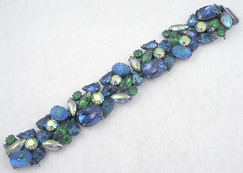 Newly Added Kramer Blue/Green Rhinestone Bracelet